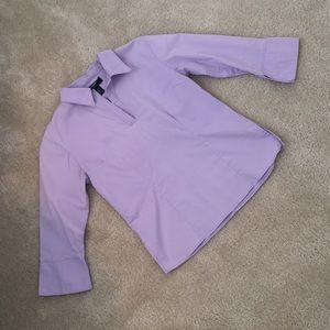 Lavender stretch collared shirt